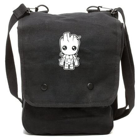 Baby Groot Guardians of the Galaxy Crossbody Travel Map Bag Case, Black & White](Mlp Bags)