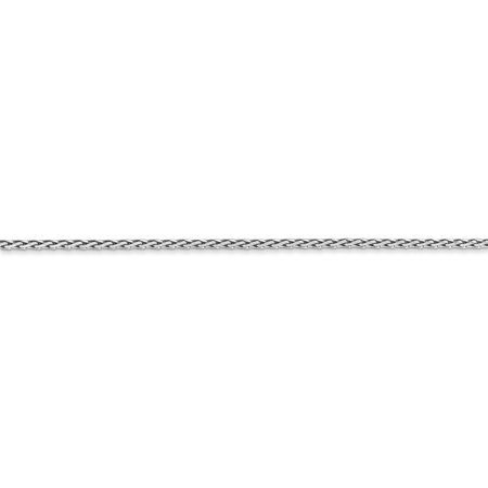 14K White Gold 1.5mm Round Diamond Cut Wheat Chain 16 Inch - image 4 of 5