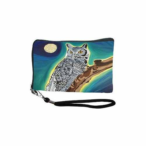 The Wise One Cell Phone Wristlet by Salvador Kitti - SK-Owl-CPW