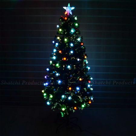 6ft Christmas Tree Fiber Optic Pre Lit Xmas Tree With