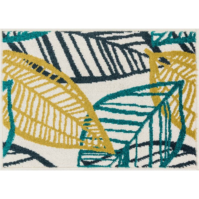 """Loloi Terrace 1'8"""" x 2'6"""" Power Loomed Rug in Ivory and Tropical"""