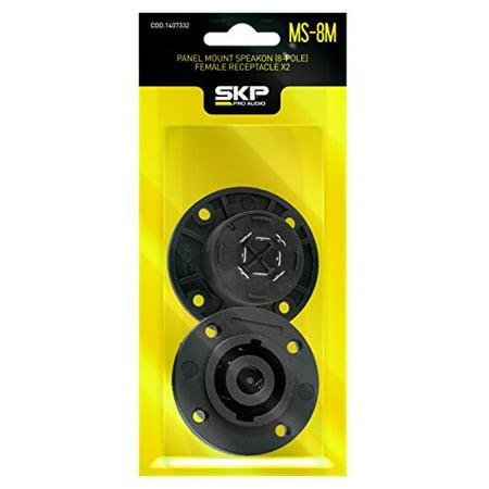 Neutrik Speakon Panel Mount - SKP Pro Audio MS-8M Panel Mount Speakon (4-Pole) Male Receptacle x4