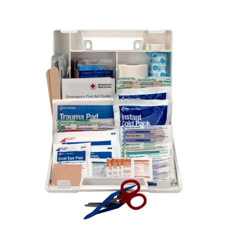First Aid Only 10 Person Sports First Aid Kit, Plastic Case, 72 pc