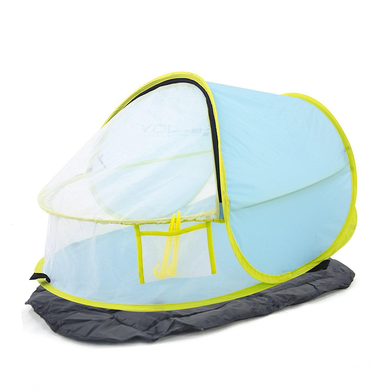 e-joy Porpora XL Automatic Pop Up Instant Portable Outdoors Beach Tent Lightweight Portable Family Sun Shelter Cabana