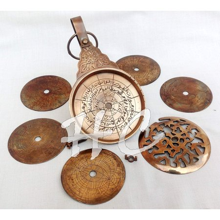 Vintage Antique Brass Astrolabe 8