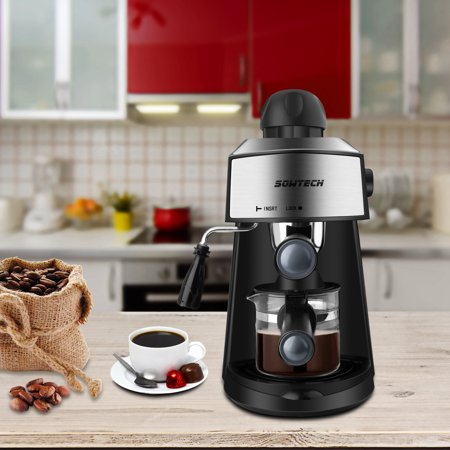 SOWTECH 3.5 Bar Steam Espresso Machine with 800W Coffee Maker for 2Oz Mocha Latte and Cappuccino -