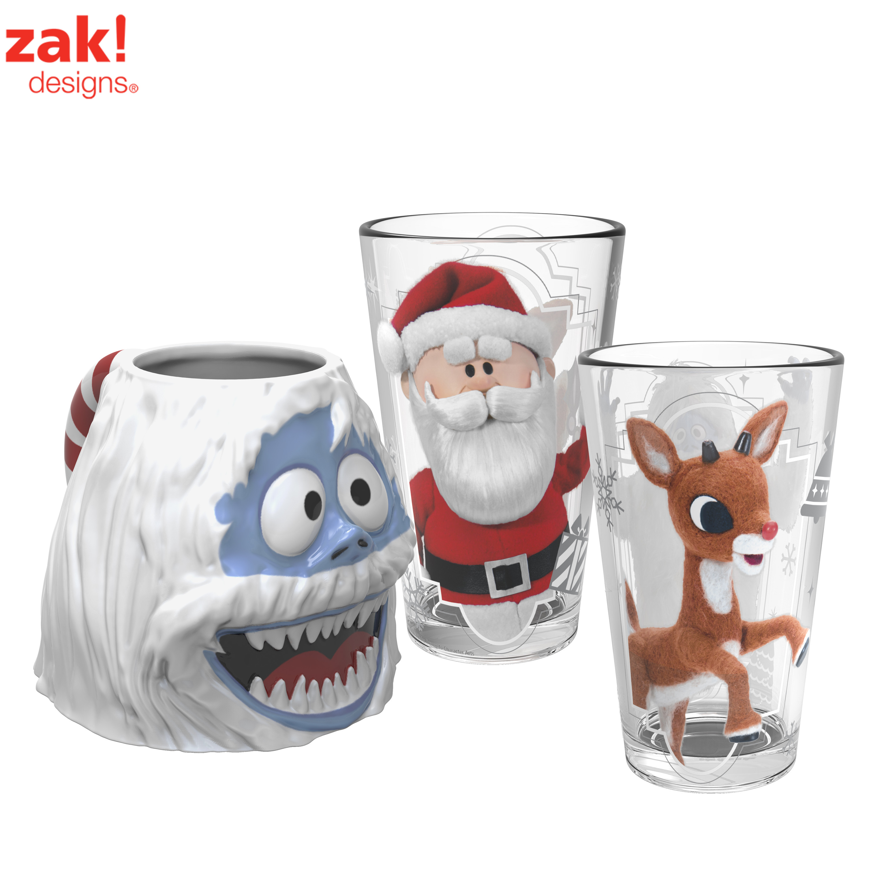 Christmas Collectibles Rudolph the Red Nosed Reindeer Coffee Mug & Pint Glasses