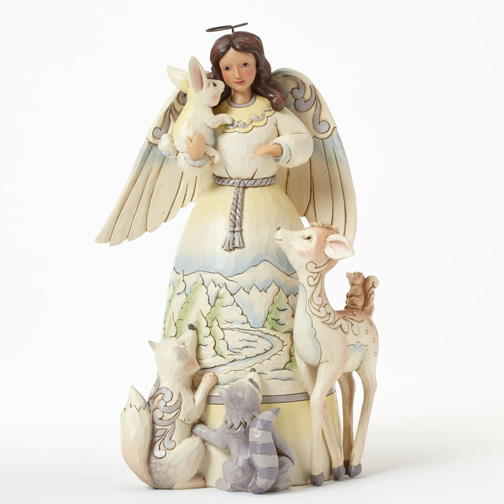 Jim Shore 4041084 Woodland Angel with Animals Peace To All Retired