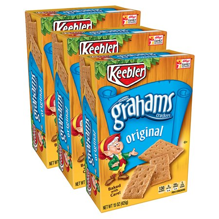 (3 Pack) Keebler Original Graham Crackers, 15 - Halloween Treats With Graham Crackers