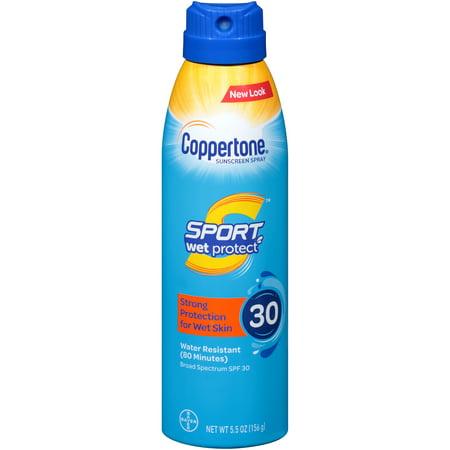 Coppertone Sport Wet Protect Sunscreen Spray SPF 30, 5.5