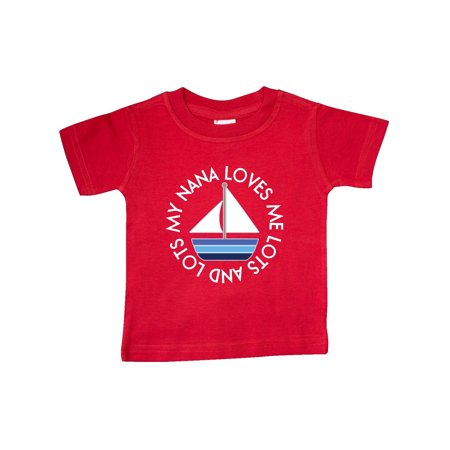 My Nana Loves Me Sailboat Boys Baby T-Shirt