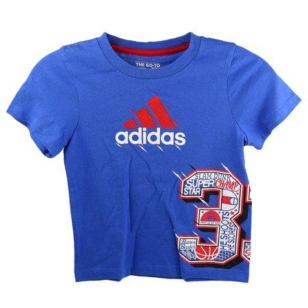 Adidas Kids 4-7x 33 Wrap Tee - Boys