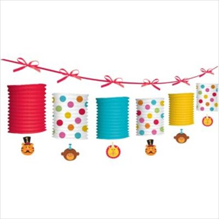 Fisher Price 1st Birthday Circus Paper Lantern Garland (12ft) - Lantern Garland