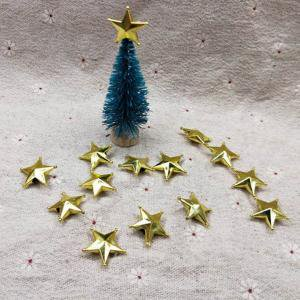 Xmas Jack - Fancyleo 5 Pcs Golden three-dimensional star, 2/3CM jack DIY accessories ,Mini Christmas tree top star decoration pendant
