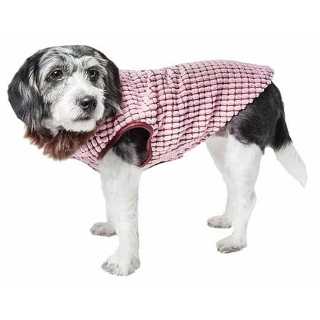Pet Life ® Luxe 'Beautifur' Elegant Designer Boxed Mink Fur Dog Coat Jacket (Designer Dog Raincoat)