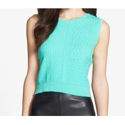 Chelsea28 NEW Serene Green Women's Size Small S Textured Knit Crop Top