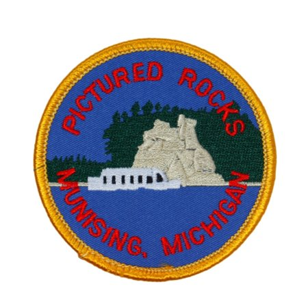 Lakeshore Pictured Rocks Munising Michigan Patch Souvenir Iron-On - Will Rock Patch