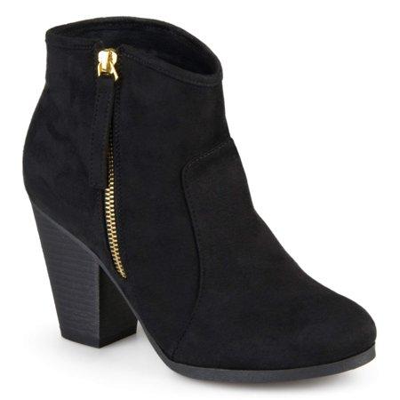 3742da94505 Women's Wide Width Faux Suede High Heel Ankle Boots
