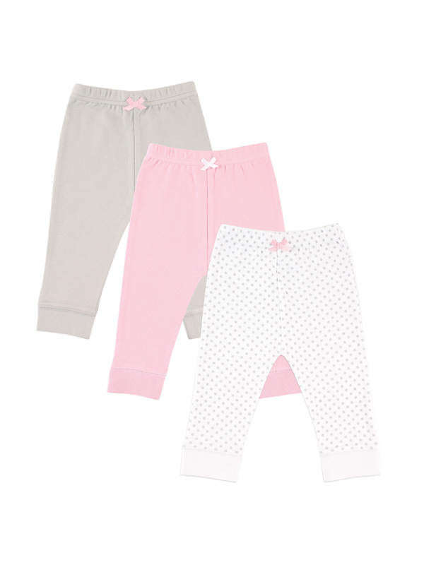 Toddler Girl Tapered Pants, 3-pack