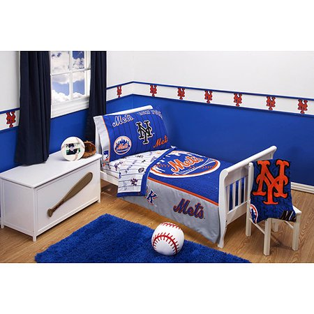New York Mets   4 Piece Toddler Bedding Set. New York Mets   4 Piece Toddler Bedding Set   Walmart com