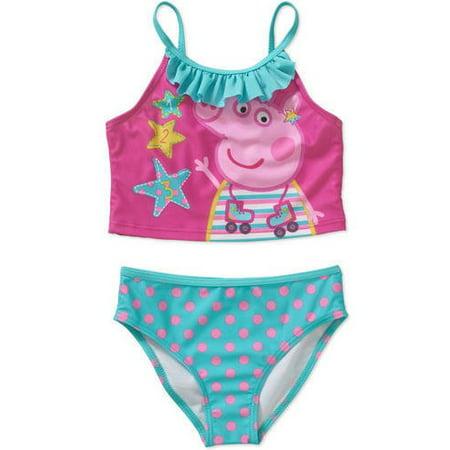 dd85923ac2 Peppa Pig - Peppa Pig Girls  Tankini Swimsuit - Walmart.com