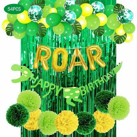 KABOER 54 Pack Dinosaur Party Supplies for Kids Birthday Party, Baby Shower Chic](Dinosaur Themed Birthday Party Supplies)