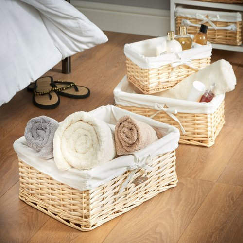 VonHaus 3 Piece Wicker Basket Set by