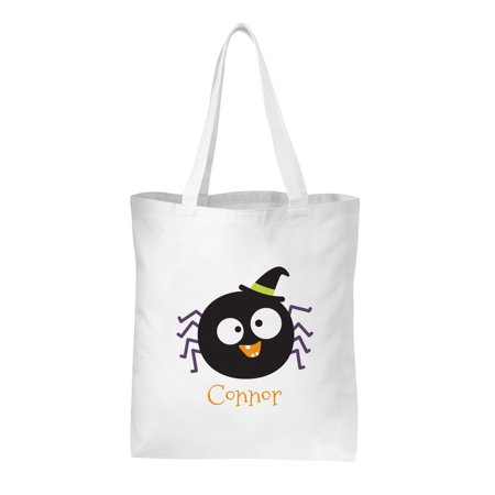 Personalized Frightful Halloween Faces Treat Bag - - Halloween Treat Baskets Personalized