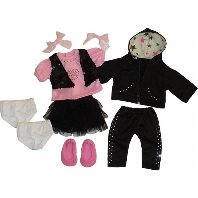 Get Ready 1324 Kids Doll Clothes, 11 Pieces Girl Set