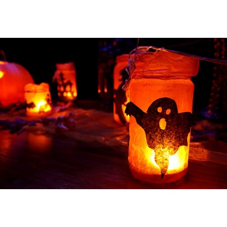Framed Art For Your Wall Fall Dark Halloween Decoration Glowing Glow 10x13 - Dark Halloween Art