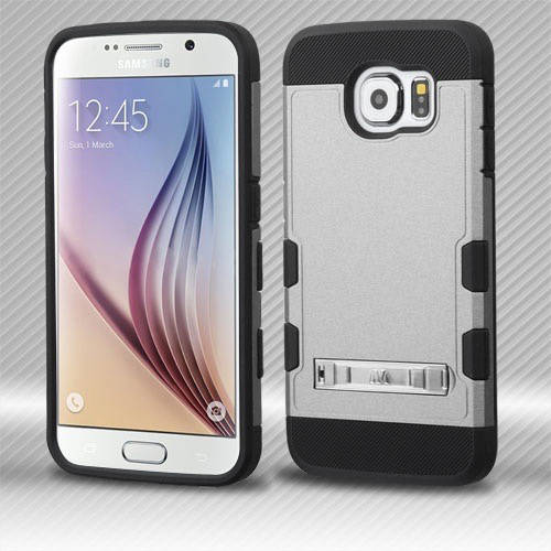 Samsung Galaxy S6 MyBat TUFF Trooper Hybrid Protector Cover with Stand