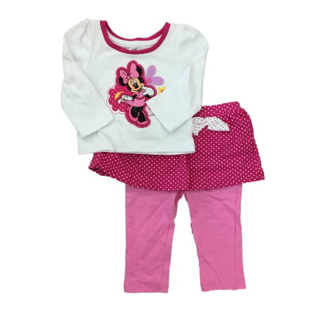 Infant Toddler Girls Minnie Mouse Floral Daisy Polka Dot Legging Outfit](Minnie Mouse Toddler Outfit)