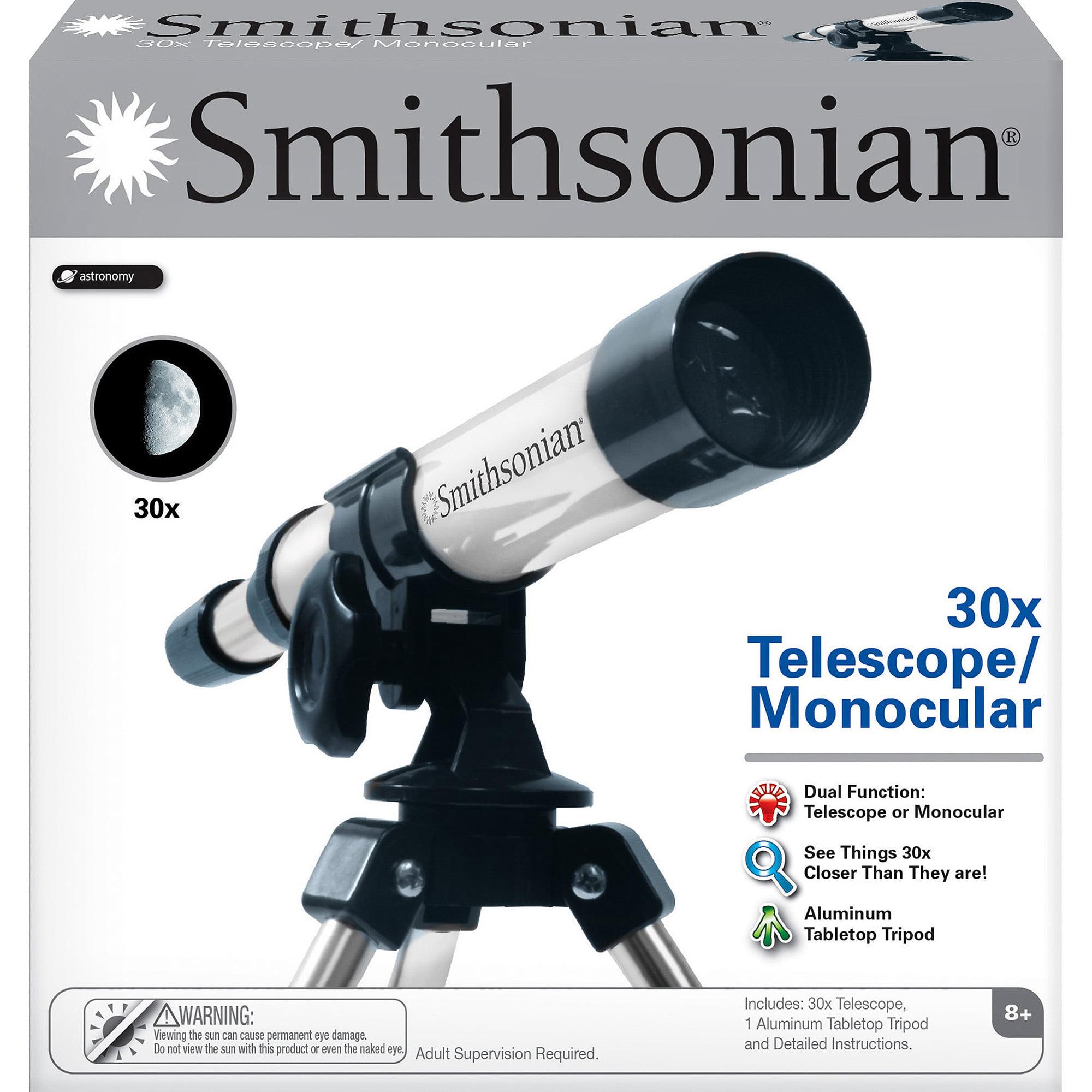 Smithsonian 30X Telescope Monocular Kit by NSI