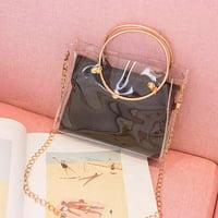 Fashion Lady Shoulders Jelly Package Handbag Purse Mobile Phone Messenger Bag