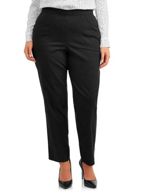 Just My Size Womens Plus Size 2 Pocket Pull On Stretch Woven Pants, Available in Regular and Petite Lengths