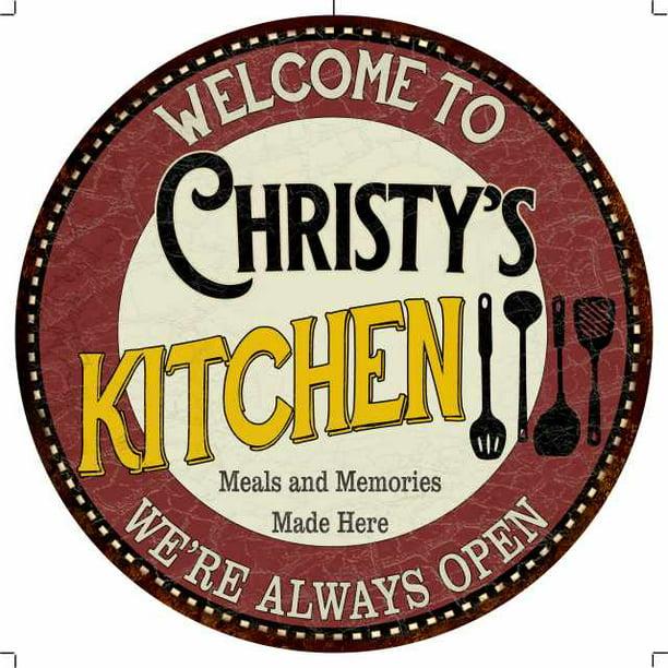 Christy S Kitchen 14 Round Metal Sign Bar Game Room Wall Decor 100140040262 Walmart Com Walmart Com