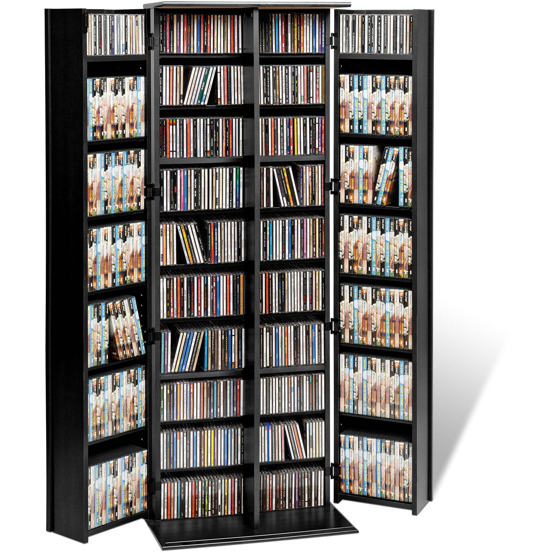 Grande Locking Media Storage Cabinet With Shaker Doors, Multiple Colors