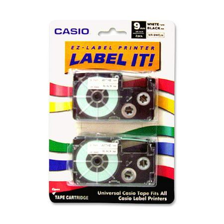 Casio, CSOXR9WE2S, EZ-Label Printer Tape Cartridges, 2 / Pack, (Casio Easy Label Printer)