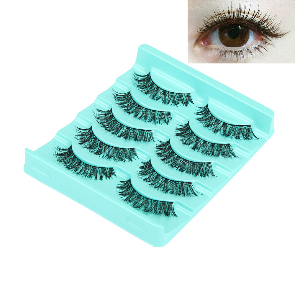 Big sale! 5 Pair/Lot Crisscross False Eyelashes Lashes Voluminous Hot Eye Lashes