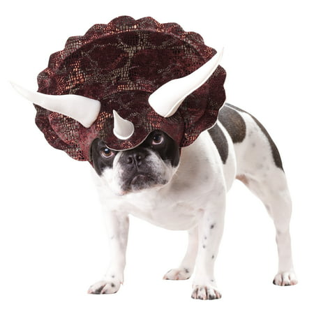 Dogs Dressed Up Funny (Triceratops Xsmall Dog Costume Halloween Dress up Headpiece Hat XS Animal)