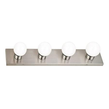 Satin Nickel Hose - Design House 519298 4-Light Vanity Wall Light, Satin Nickel