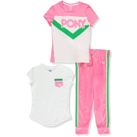 Pony Girls' 3-Piece Pants Set Outfit (Beer Pong Outfits)