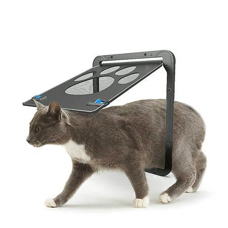 Pet Screen Door Magnetic Flap Screen Automatic Lockable Black Door for Small Cat Puppy - image 1 of 7