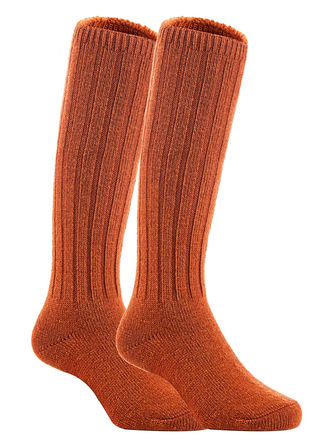 Lian LifeStyle Unisex Baby Children 3 Pairs Knee High Wool Blend Boot Socks Size 2-4Y  (Brown)