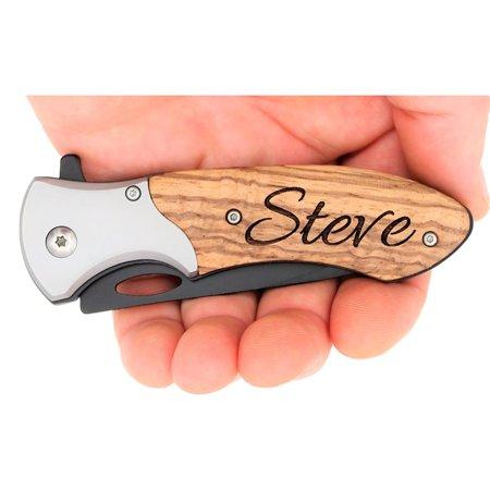 Laser engraved TAC-FORCE TF-876 assisted opening pocket knife](Engraved Pocket Knives)