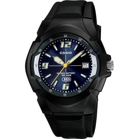 Casio MW600F-2AV Men's Black Resin Band Blue Dial 100M Analog HD Series Watch (Watch Halloween 1978 Hd)