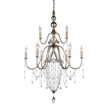 Crystal World Pembina 9 Light Candle Style Chandelier
