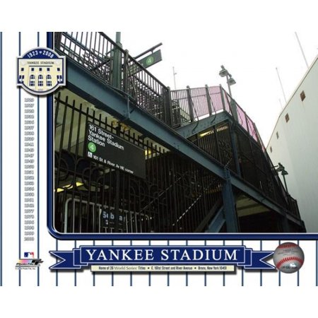 Yankee Stadium 1923-2008 Color Photos Outside of Stadium 161st St Station Photo
