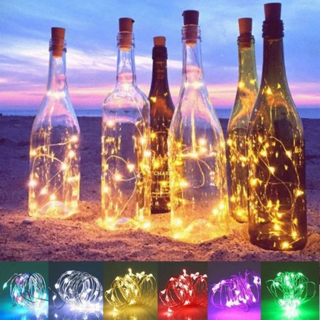 Halloween Wedding Proposal (Solar Powered 20 LEDs Wine Bottle Lights with Cork Fairy String Light for DIY Party Halloween Christmas Wedding)