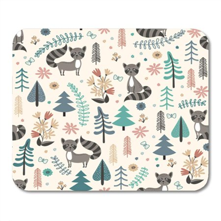 NUDECOR Seamless Pattern for Children with Cute Raccoon in Forest Vector Mousepad Mouse Pad Mouse Mat 9x10 inch - image 1 of 1